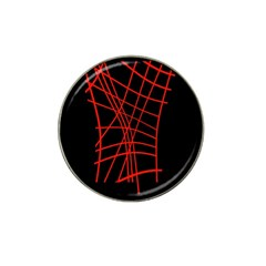 Neon Red Abstraction Hat Clip Ball Marker by Valentinaart
