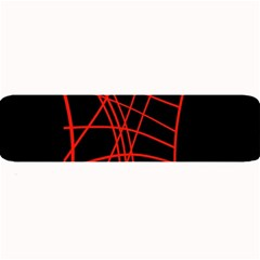 Neon Red Abstraction Large Bar Mats by Valentinaart