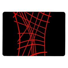 Neon Red Abstraction Samsung Galaxy Tab 10 1  P7500 Flip Case by Valentinaart