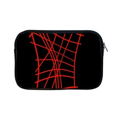 Neon Red Abstraction Apple Ipad Mini Zipper Cases by Valentinaart