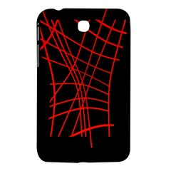 Neon Red Abstraction Samsung Galaxy Tab 3 (7 ) P3200 Hardshell Case