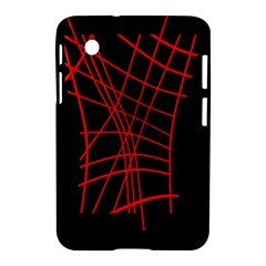 Neon Red Abstraction Samsung Galaxy Tab 2 (7 ) P3100 Hardshell Case  by Valentinaart