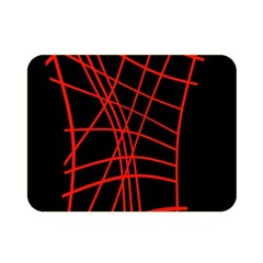 Neon Red Abstraction Double Sided Flano Blanket (mini)  by Valentinaart