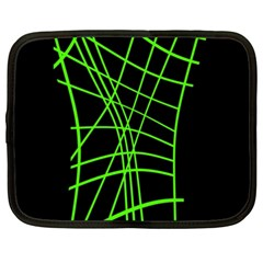 Green Neon Abstraction Netbook Case (xxl)