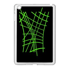 Green Neon Abstraction Apple Ipad Mini Case (white) by Valentinaart