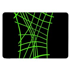 Green Neon Abstraction Samsung Galaxy Tab 8 9  P7300 Flip Case by Valentinaart