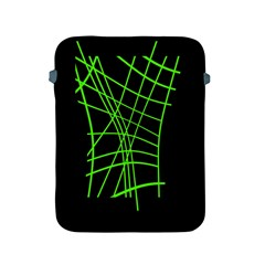Green Neon Abstraction Apple Ipad 2/3/4 Protective Soft Cases by Valentinaart
