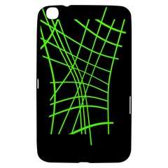 Green Neon Abstraction Samsung Galaxy Tab 3 (8 ) T3100 Hardshell Case  by Valentinaart