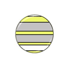 Yellow And Gray Lines Hat Clip Ball Marker (4 Pack) by Valentinaart