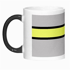 Yellow And Gray Lines Morph Mugs by Valentinaart