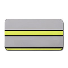 Yellow And Gray Lines Medium Bar Mats by Valentinaart
