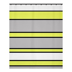 Yellow And Gray Lines Shower Curtain 60  X 72  (medium)  by Valentinaart