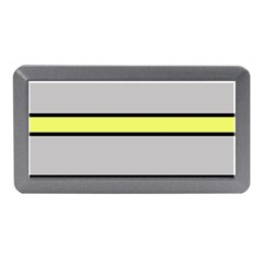 Yellow And Gray Lines Memory Card Reader (mini) by Valentinaart
