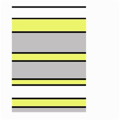 Yellow And Gray Lines Large Garden Flag (two Sides) by Valentinaart