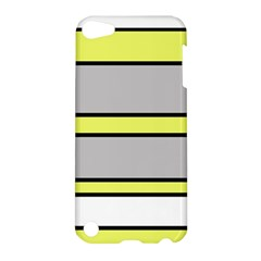 Yellow And Gray Lines Apple Ipod Touch 5 Hardshell Case by Valentinaart