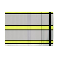 Yellow And Gray Lines Apple Ipad Mini Flip Case by Valentinaart