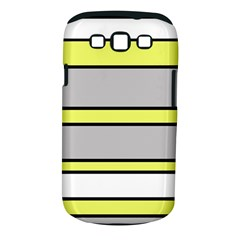 Yellow And Gray Lines Samsung Galaxy S Iii Classic Hardshell Case (pc+silicone) by Valentinaart