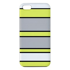 Yellow And Gray Lines Iphone 5s/ Se Premium Hardshell Case by Valentinaart