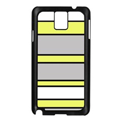 Yellow And Gray Lines Samsung Galaxy Note 3 N9005 Case (black) by Valentinaart