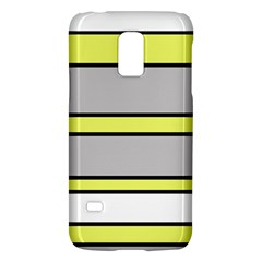 Yellow And Gray Lines Galaxy S5 Mini by Valentinaart