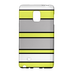 Yellow And Gray Lines Galaxy Note Edge by Valentinaart