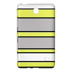 Yellow And Gray Lines Samsung Galaxy Tab 4 (7 ) Hardshell Case  by Valentinaart