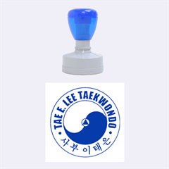 Taeeleestamp Blue Medium Medium Rubber Stamp (round) by BankStreet