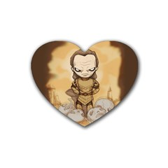 Scourge Of Carpathia Heart Coaster (4 Pack)  by lvbart