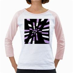 Purple Abstraction Girly Raglans by Valentinaart