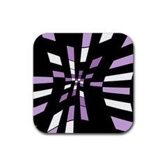 Purple Abstraction Rubber Square Coaster (4 Pack)  by Valentinaart