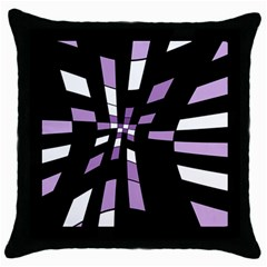 Purple Abstraction Throw Pillow Case (black) by Valentinaart