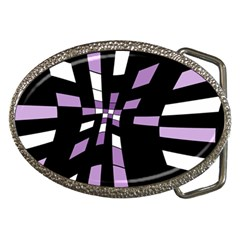 Purple Abstraction Belt Buckles by Valentinaart