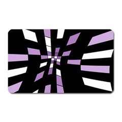 Purple Abstraction Magnet (rectangular) by Valentinaart