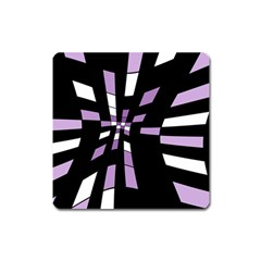 Purple Abstraction Square Magnet by Valentinaart