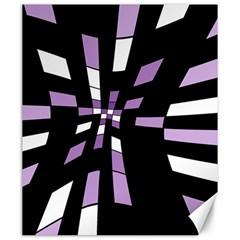 Purple Abstraction Canvas 20  X 24   by Valentinaart