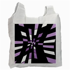Purple Abstraction Recycle Bag (one Side) by Valentinaart