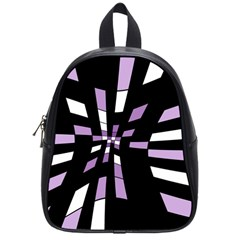 Purple Abstraction School Bags (small)  by Valentinaart