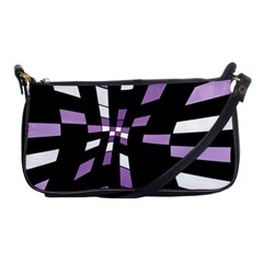 Purple Abstraction Shoulder Clutch Bags by Valentinaart