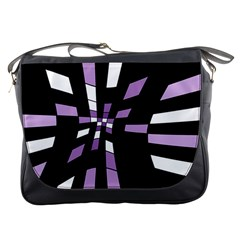 Purple Abstraction Messenger Bags by Valentinaart