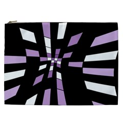 Purple Abstraction Cosmetic Bag (xxl)  by Valentinaart