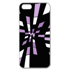 Purple Abstraction Apple Seamless Iphone 5 Case (clear) by Valentinaart