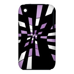 Purple Abstraction Apple Iphone 3g/3gs Hardshell Case (pc+silicone) by Valentinaart