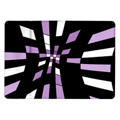 Purple Abstraction Samsung Galaxy Tab 10 1  P7500 Flip Case by Valentinaart
