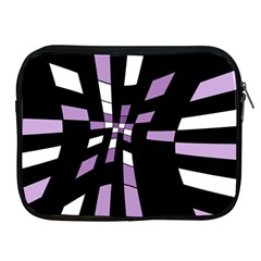 Purple Abstraction Apple Ipad 2/3/4 Zipper Cases by Valentinaart
