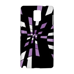 Purple Abstraction Samsung Galaxy Note 4 Hardshell Case by Valentinaart