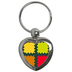 4 Shapes                                                                                 			key Chain (heart) by LalyLauraFLM