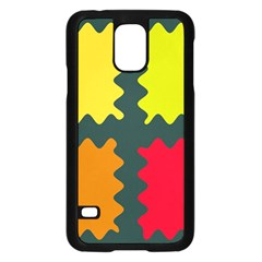 4 Shapes                                                                                 			samsung Galaxy S5 Case (black) by LalyLauraFLM