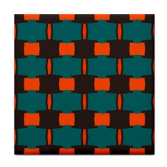 3 Colors Shapes Pattern                                                                                  			tile Coaster by LalyLauraFLM