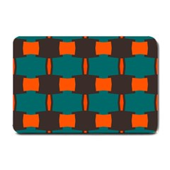 3 Colors Shapes Pattern                                                                                  			small Doormat by LalyLauraFLM