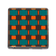 3 Colors Shapes Pattern                                                                                  			memory Card Reader (square) by LalyLauraFLM